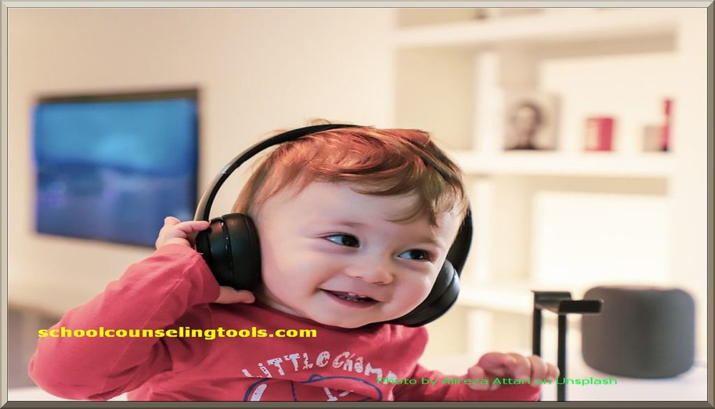 """baby listening to music"" 