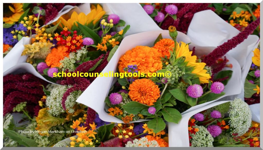 """flower bouquet""| schoolcounselingtools"""